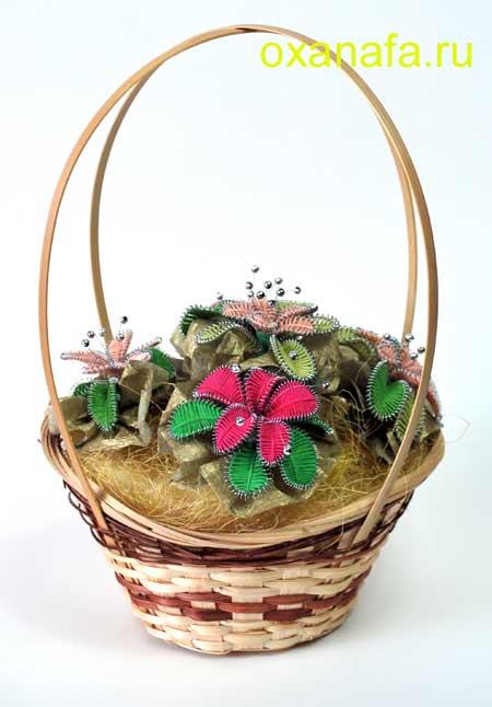 Букет цветов в корзинке