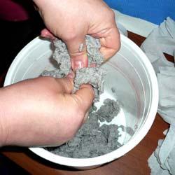 Приготовление массы для папье-маше
