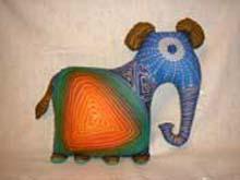Мягкая игрушка-подушка слоник в стиле батик.