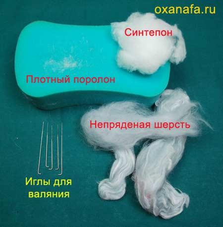 Материалы для сухого валяния