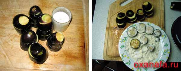 Столбики из баклажанов