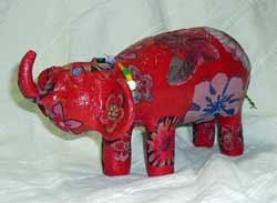 Слон из керамики