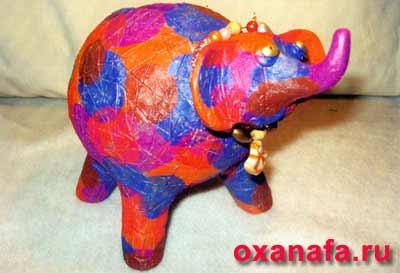 Слон рукодельный
