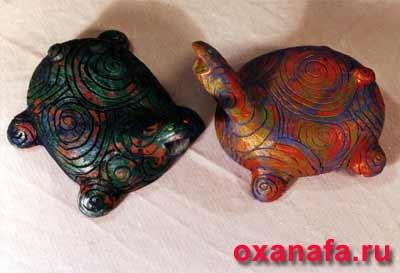 Черепахи из керамики