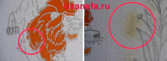 Ошибки при рисовании батика