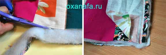 выравнивание одеяла в стиле печворк