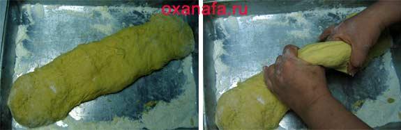 Процесс приготовления пирожков