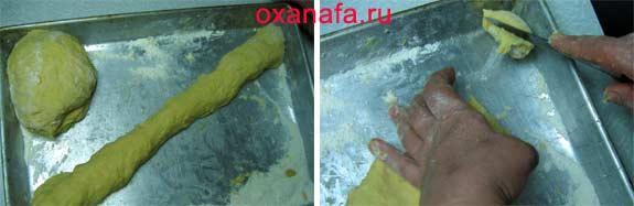 процесс приготовления пирогов