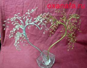 Изготовление бисерного дерева