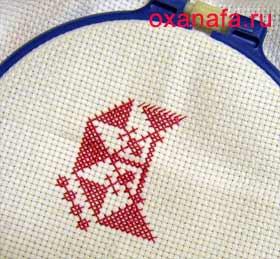 Начало вышивания крестиком
