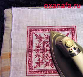 Как подготовить вышивку крестом