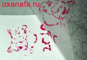 Рисунок тигра на упаковке