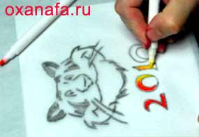 Тигр к новому году