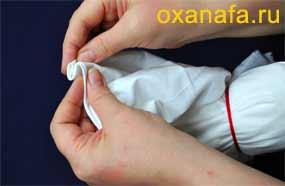 Формирование рук традиционной куклы