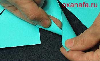 Сворачиваем конус из бумаги