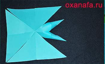изготовление снежинки из бумаги