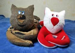 Мягкая игрушка кота своими руками