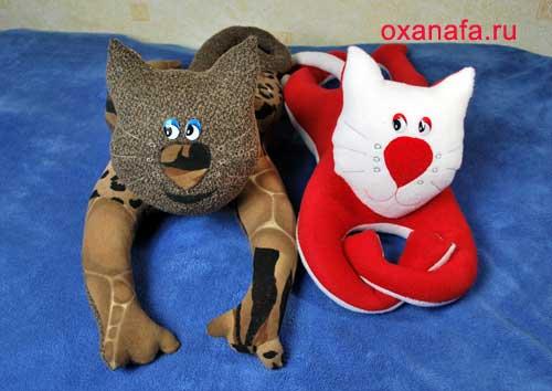 Мягкие игрушки кошек своими