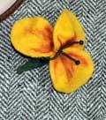 Мастер класс сухого валяния на каркасе на примере цветка.  Оксана.