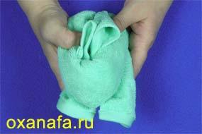 оригами из полотенец
