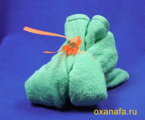 Подарки своими руками из полотенец