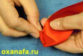 складывания розочки из ленты