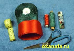 материалы для мастер класса по изготовлению розы из атласной ленты