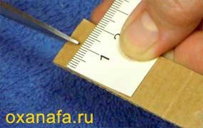 изготовление шаблона для помпона