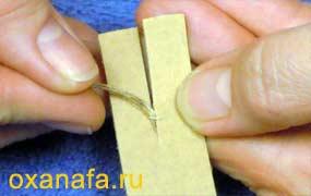 изготовление шаблона для маленького помпона