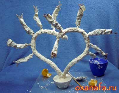 ствол дерева из бисера своими руками