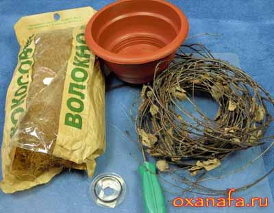 материалы для изготовления декоративной подставки для дерева из бисера