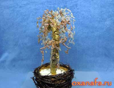 дерево из бисера своими руками в профиль