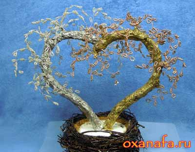мастер класс дерево из бисера в подарок