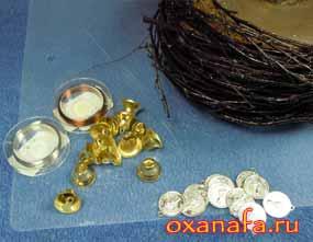 колокольчики и монисты для дерева из бисера в подарок на серебряную свадьбу