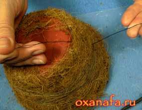 проволока для крепления веток декоративного гнезда