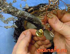колокольчики для дерева счастья из бисер