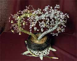 Как сделать дерево из бисера в подарок
