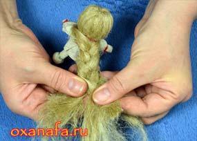 заплести косу кукле