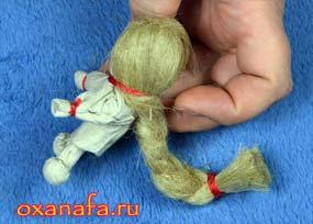 коса куклы на счастье