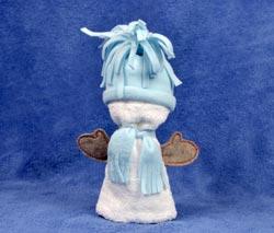 фигурка из полотенца - Снеговик.