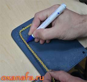 изготовление декоративного бортика из золотого шнура