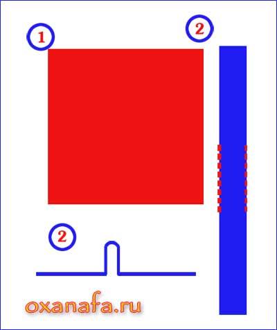 схема сборки варежек